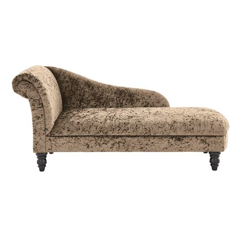 chaise longue carrefour crushed velvet furniture sofas beds chairs cushions