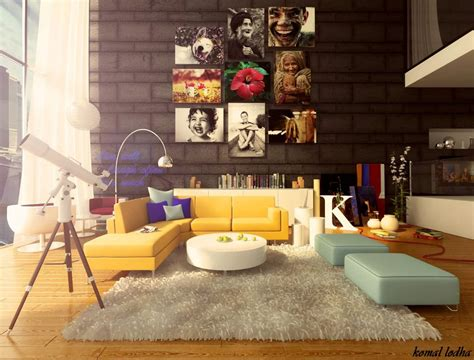 colorful  fancy living room designs