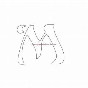 pin art nouveau alphabets free tattoo on pinterest With free stencil letters for painting