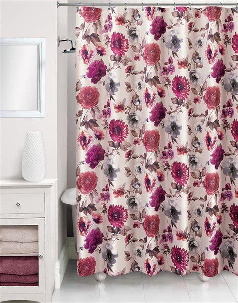 shower curtain flowers floral shower curtain kmart