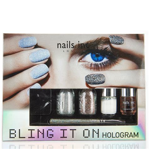 nails  bling   hologram collection  shipping