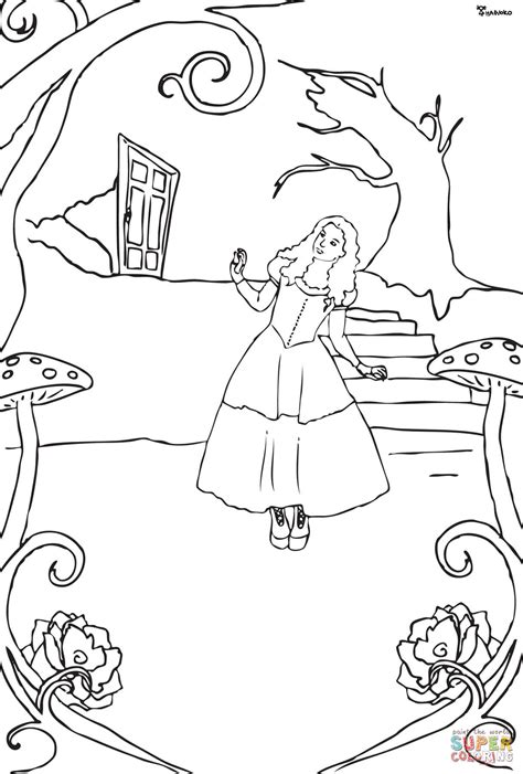 alice  wonderland coloring page  printable coloring pages