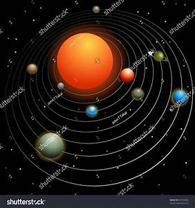 Solar System Image Isolated On A Black Background. Stock ...