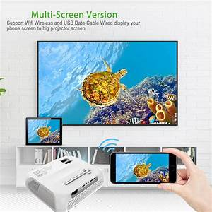 High Quality Wifi Version Projector   4500 Lumens New
