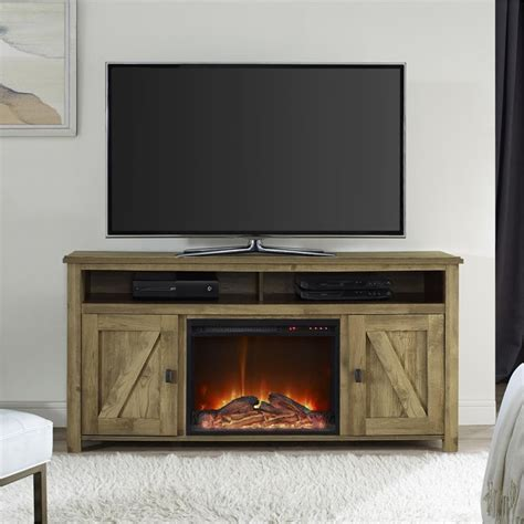 fireplace tv stand  light pine
