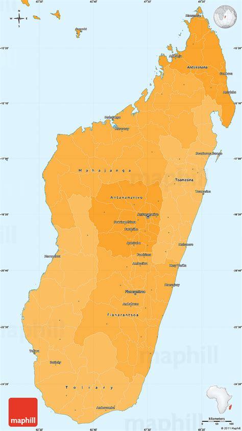 political shades simple map  madagascar