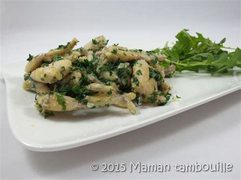 cuisiner des cuisses de grenouille cuisses de grenouilles en persillade maman tambouille