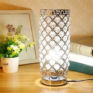 Crystal, Table, Lamp, Nightstand, Decorative, Room, Desk, Lamp