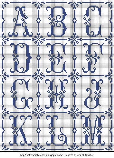 cross stitch alphabet generator  cross stitch patterns