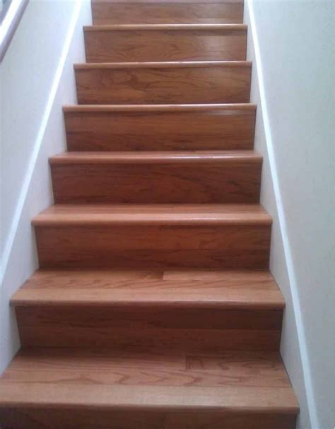 Types Of Floor Covering For Stairs by Stair Warm Look Stair Design With Mahogany Treads Combine