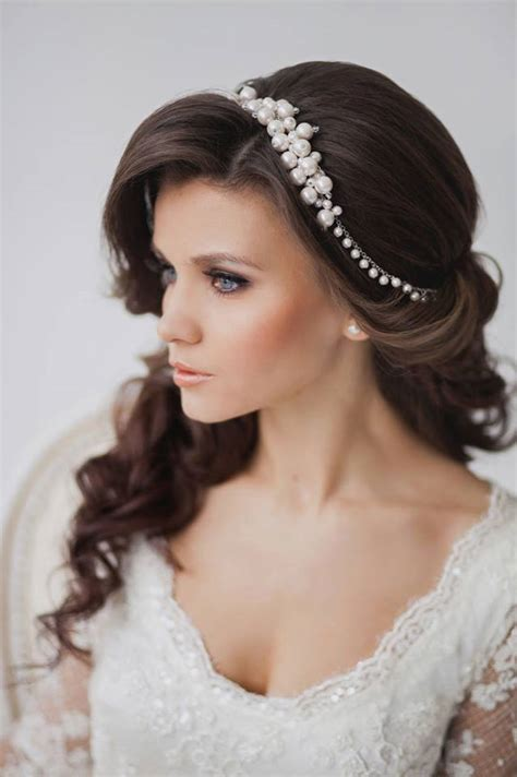 most inspiring and easy wedding hairstyles with charming headpieces hairzstyle
