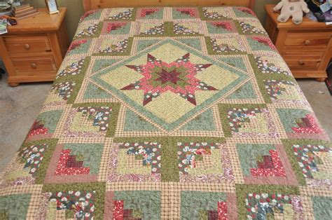patchwork cabin king size log cabin patchwork complete quilt machine