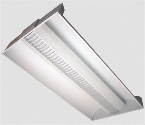 2x4 fluorescent recessed louver light fixture