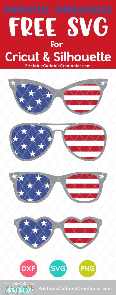 Most people are uncomfortable with direct sunlight because the human eye receives much more light outside than. Free 4th of July Sunglasses SVG Files for Cricut ...
