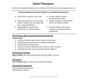 dance resumes template learnhowtoloseweightnet With dance resume template