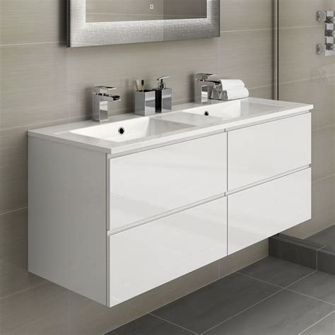 Modern Bathroom Sink Furniture by White Basin Bathroom Vanity Unit Sink Storage