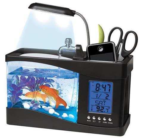 meteo bureau aquarium de bureau usb avec station météo commentseruiner