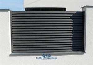 Aluminium Zaun Modern : aluminium lamellen zaun sichtschutz h 1 0 m b 2 0 m ~ Articles-book.com Haus und Dekorationen