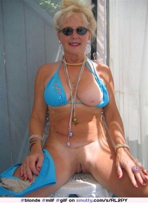 Blonde Milf Gilf Sunglasses Bikini Onetitout