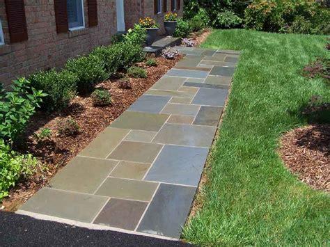 Backyard Sidewalk Ideas by Slate For Walkway Ideas Dzuls Interiors