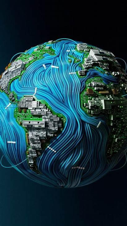 4k Tech Earth Wallpapers Background Iphone Desktop