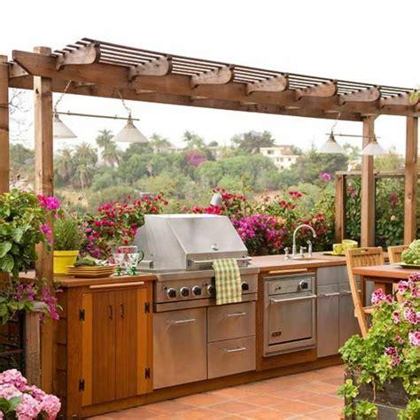 cuisine exterieure bois 1001 idées d 39 aménagement d 39 une cuisine d 39 été extérieure
