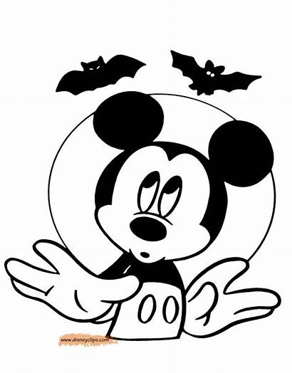 Mickey Halloween Coloring Mouse Disney Pages Minnie