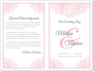 sle wedding program bi fold wedding invitation templates wedding invitation ideas