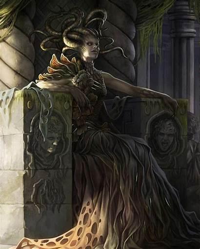 Magali Villeneuve Vraska Mtg Queen Golgari Fantasy
