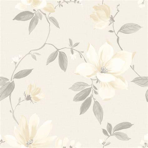 magnolia cream floral wallpaper departments diy  bq