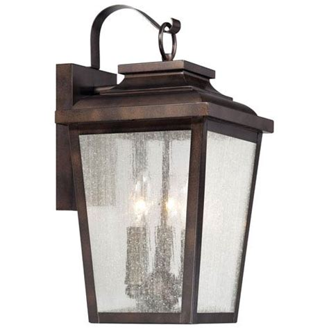 irvington manor three light outdoor wall mount in chelesa