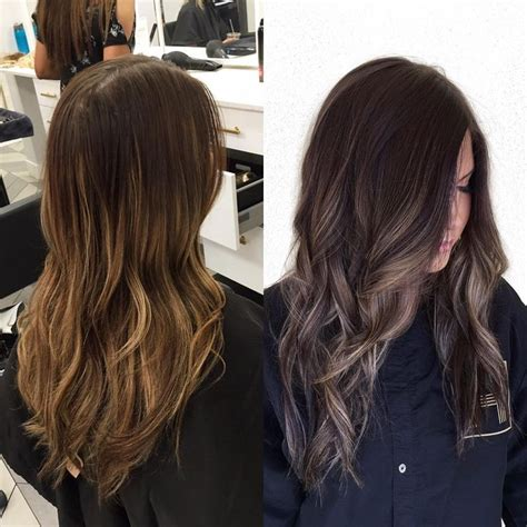 Darker Brown Hair by Light And Brassy Darker And Softer Balayage Lowlights