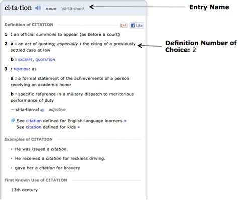 si鑒e d馭inition how to cite a dictionary in mla imagine easy