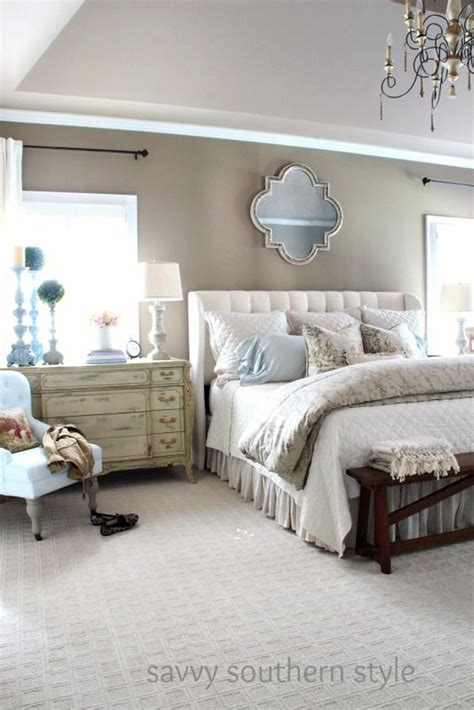 Bedroom Carpet Neutral by Neutral Cozy Master Farmhouse Style Bedroom Decor