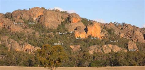 Rock Climbing Red Rocks Grampians Victoria Australia