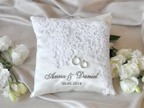 lace wedding pillow vinateg ring bearer pillow white ring pillow classic ring pillow