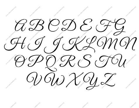 fancy cursive letters fancy alphabet letters a z letters exle 12760