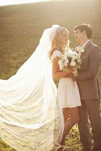 short wedding dress and long veil weddingbee With long veil wedding dresses
