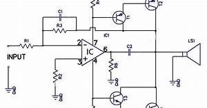 12w Amplifier Circuit Using 741 Op Amp Wiring Diagram