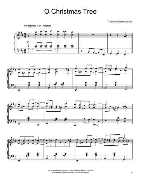 o christmas tree sheet music direct