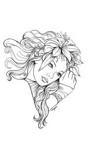 Dark Fairy Coloring Pages for Adults