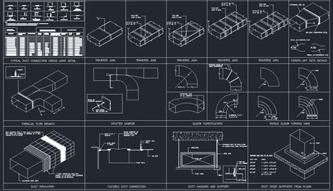 Hvac Drawing In Autocad by Hvac Ducting Details Cad Files Dwg Files Plans And Details