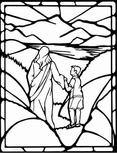 Psalm Coloring Bible Christian Drawing 23rd Psalms