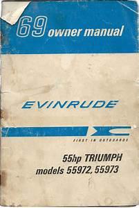 1969 Evinrude Owners Manual 55hp Triumph Models 55972  3