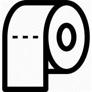 Paper, paper roll, roll, toilet paper, toilet roll icon ...