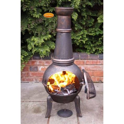 chiminea for sale uk gardeco granada cast iron chiminea 3 sizes available mesh