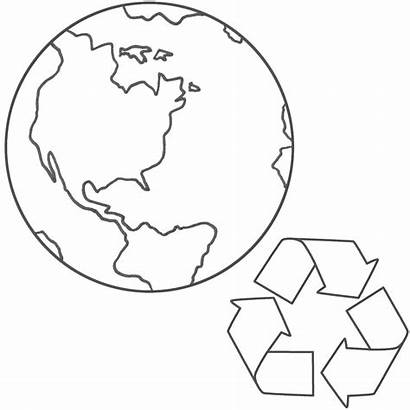 Earth Coloring Pages Planet Recycling Drawing Printable
