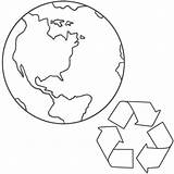 Earth Coloring Pages Planet Drawing Recycling Printable Bigactivities Recycle Bestcoloringpagesforkids sketch template