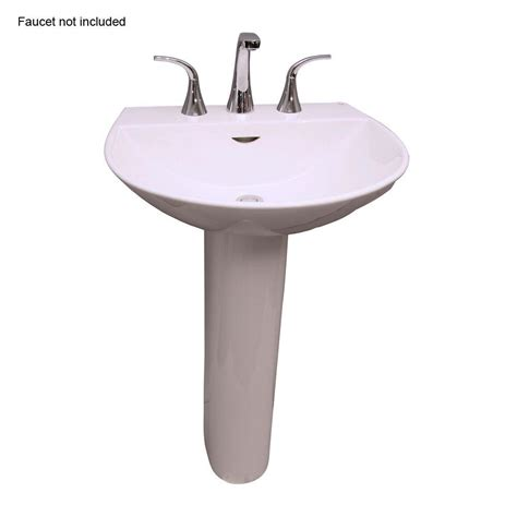 22 wide pedestal sink reserva 600 22 in pedestal combo bathroom sink for 8 in