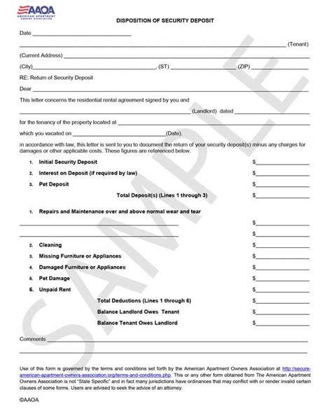 tenant security deposit refund form best photos of tenant key return form security deposit